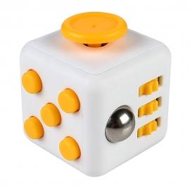 Fidget Kocka - Bielo Žltá