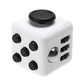 Fidget kocka - Bielo Čierna